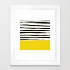 Sunshine x Stripes Framed Art Print