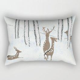 Deers in the snow Rectangular Pillow
