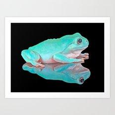 FROG REFLECTIONS Art Print