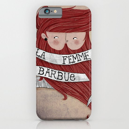 Bearded woman iPhone & iPod Case