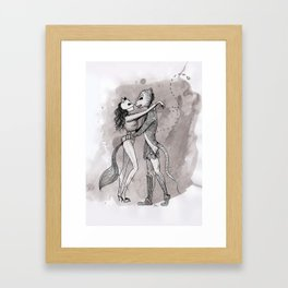 The Fox & The Lizard - La Zorra y El Lagarto Framed Art Print