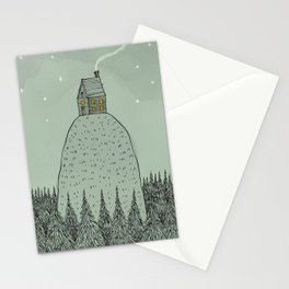 'The house on the hill' Stationery Cards