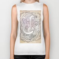 tangled Biker Tanks featuring Tangled by Ben Nguyen