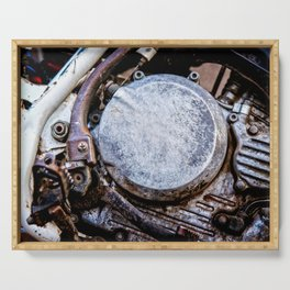 Motorcycle Engine Details Color Serving Tray