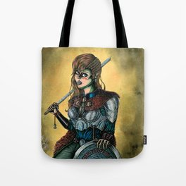 Portrait of Shieldmaiden Tote Bag