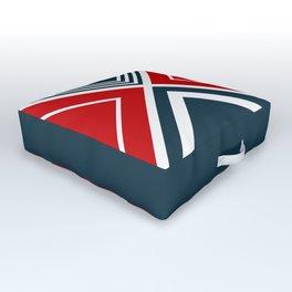 Nautical geometry Outdoor Floor Cushion