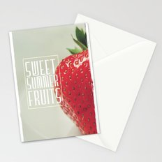 Sweet Summer Fruits (Strawberry) Stationery Cards