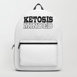 Keto Diet Ketosis Minded LCHF Healthy Lifestyle Ketone Lover Backpack