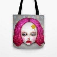 misfits Tote Bags featuring Misfits - Lulu by Raymond Sepulveda