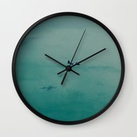 airplane Wall Clocks featuring Airplane by Nick De Clercq