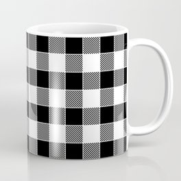 Buffalo Check - black / white Coffee Mug