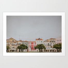 Pastel Coloured Neighbourhood Art Print