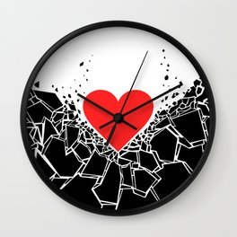 Heartbreaker II Wall Clock