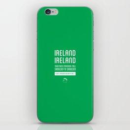 Ireland Rugby Union national anthem - Ireland's Call iPhone Skin