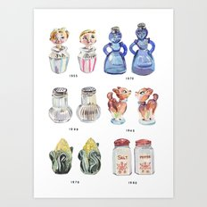 Collection of Vintage Salt & Pepper Shakers Art Print