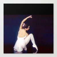 ballerina Canvas Prints featuring Ballerina by Just Art