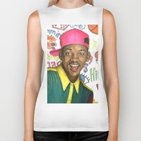 fresh prince Biker Tanks featuring Fresh Prince of Bel Air - Will Smith by Heather Buchanan
