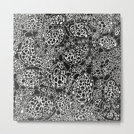 Microscopic cells - black and white Metal Print