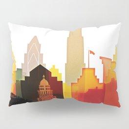 Austin colorful skyline Pillow Sham