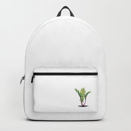 Red beet plant pencil drawn Backpack