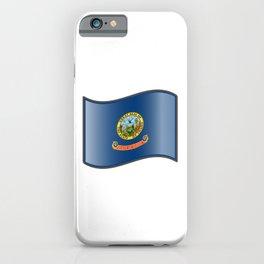 Waving Flag of Idaho  iPhone Case