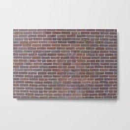 Worn Brick Surface Metal Print