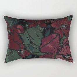 Rich Floral Rectangular Pillow