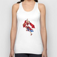 manga Tank Tops featuring Manga Hero by SpaceMonolith