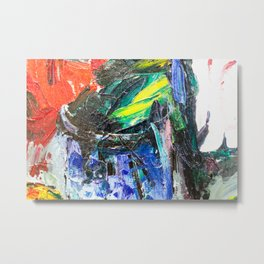 Abstract Oil Paint on Canvas Rothko Metal Print