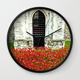 Tower of London Poppy Wall Clock