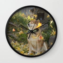 fallen leaves Wall Clock
