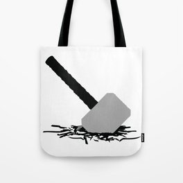 Thor Hammer In The Ground Tote Bag