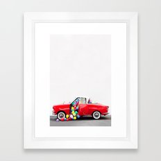 Balloon Car Open Door Framed Art Print