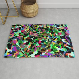 Abstract dance of hearts Rug