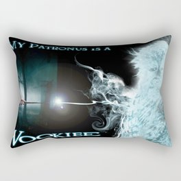 My Patronus is a Wookiee (with text) Rectangular Pillow