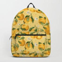 Fresh Juicy Oranges with Flowers Backpack