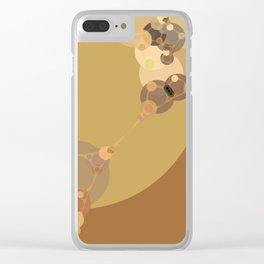 carmen - abstract design warm tan brown caramel beige taupe Clear iPhone Case
