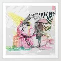 Art Print featuring Ti sento, Venezia... by Podessto