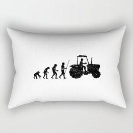 Farmer Evolution Tractor Retro Look Rectangular Pillow