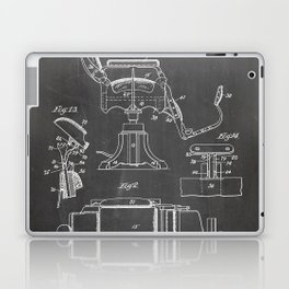 Barbers Chair Patent - Barber Art - Black Chalkboard Laptop & iPad Skin