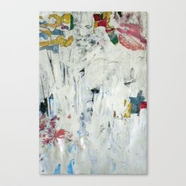 Some Mornings (with flags & floral abstractions) while smoking Canvas Print