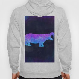 HIPPO IN SPACE // Animal Graphic Art // Watercolor Canvas Painting // Modern Minimal Cute Hoody