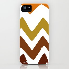 Abstract Retro shapes Set, Hand Painted Tribal Shapes, Retro Classic Colors, No 01 iPhone Case