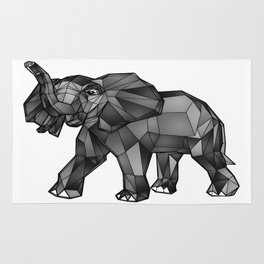 Geometric Giant #1: Elephant Rug
