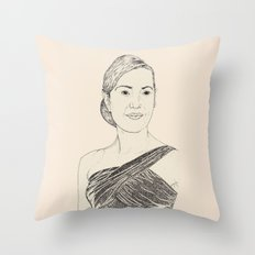 Kate Winslet Portrait Throw Pillow