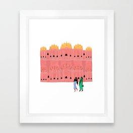 Hawa Mahal Framed Art Print
