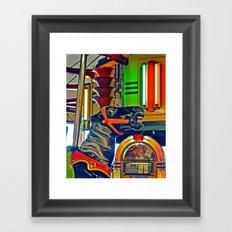 Carousel horse Framed Art Print