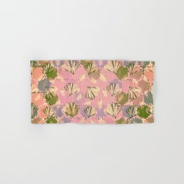 Mosaic Ginkgo (Peach and Pink) Hand & Bath Towel