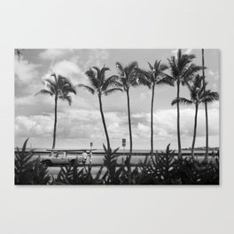 Bay Front Chat Canvas Print