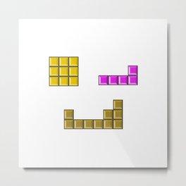 Tetris face #society6 #decor #buyart #artprint Metal Print